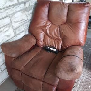 Photo of Recliner Chair with electric footrest.