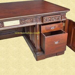 Photo of Victorian Replicas Resolute desk and file cabinet