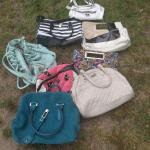 10 Lady hand bags