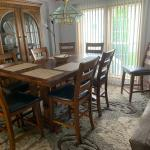 Enormous Pub Dining Set and China Cabinet