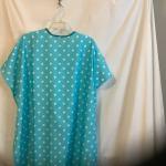 Salon Cape - New - Fabric - Blue w/White Polka Dots