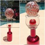 """35"""" Tall Metallic Garden Sculpture Glass Art"""