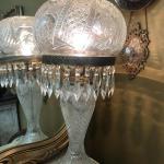 Cut Glass Mushroom Lamp