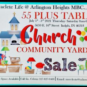 Photo of 55 Plus Table Yard Sale..Coming Soon
