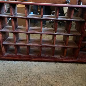 Photo of Display Shelf with Mirror