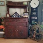 antique 2 peace cabinet