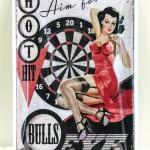 Vintage Style 🎯 Bullseye 🎯 Pin-Up Girl Wall Sign *NEW*