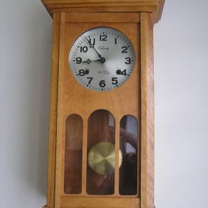 Photo of Older Battery Wooden Pendulum Clock