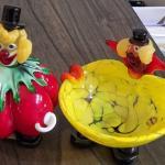 Vintage Murano Italian Glass Blown clown collection(13)