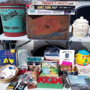 Photo of The VINTAGE VITTLES  BOOTH at THE LUCKY SQUIRREL FLEA MARKET