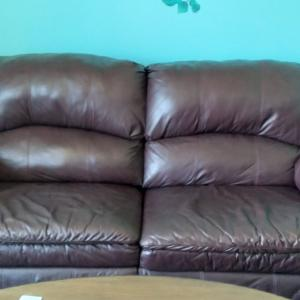 Photo of Leather sofa and big chair