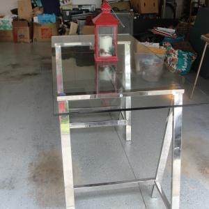 Photo of MODERN TEMPERED GLASS TOP TABLE/TV STAND
