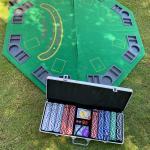 Poker/Black Jack Table Top & Dealer Chips