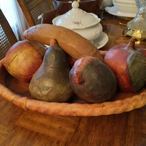 Photo of Leather Fruit and Bowl Set