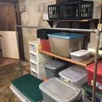 Lot 232 - Storage Bins, Clothes Rack, Floating Shelves & More