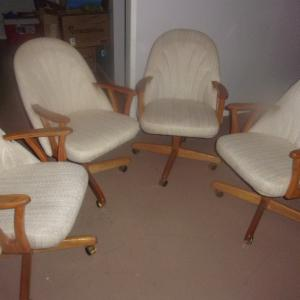 Photo of Four Rocking and Rolling Swivel Chairs