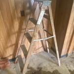 Lot 246 - Vintage Tools & Wooden Ladder