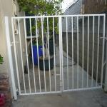 Wrought Iron White Gates