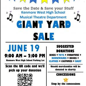 Photo of Kenmore West High School Musical Theatre Department Giant Garage Sale