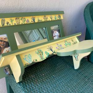 Photo of Hand painted, cactus themed shelf set