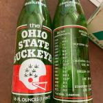 1970s  Ohio State 7up bottles w/carton