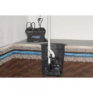 Photo of battery operated back up sump pump