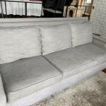 Heather gray long couch