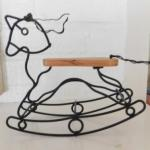 """Wire and Wood Artisan Mantle Top Rocking Horse 8""""x7"""""""