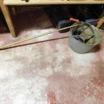 Plumbing Snake and Galvanized Bucket