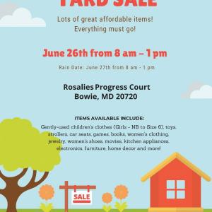 Photo of Yard Sale in Fairwood Community (Bowie)