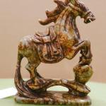 Pair of Brown Jade Horses