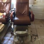 Pedicure chair.