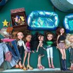 Six Bratz and My Scene dolls and accessories