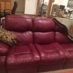 Leather Entertainment Couch