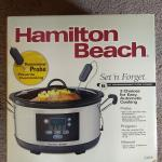 Hamilton Beach Set and Forget Slow Cooker Programmable