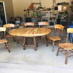 Amish made natural birch dining room set