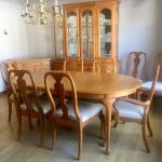 Dining Room Set: Table , 8 Chairs, China Cabinet , Buffet Server