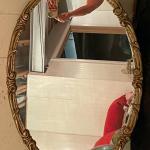 "Antique oval mirror 35"" x 22"""