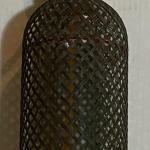 Vintage Seltzer Bottle Glass Wire Mesh Barware