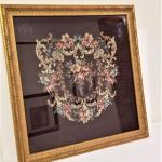 Lot #47  Large Needlepoint in Gilded Frame - GORGEOUS