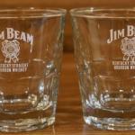 2 Jim Beam Glasses