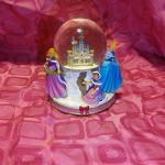 Princess Christmas musical snow globe
