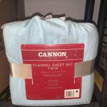 Cannon Flannel Sheet Set, Twin