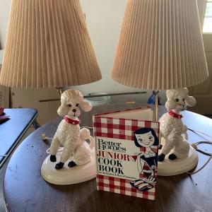 Photo of Vintage Poodle Lamps