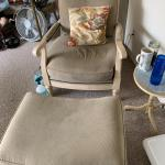 Flexi Steel chair & ottoman