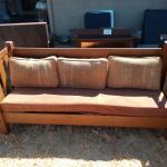 Mission style couch bench