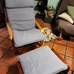 Photo of Ikea poang chair  And ottoman cushion