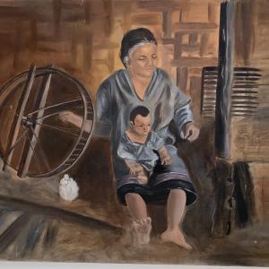 "Photo of Vintage Canvas Art on 18"" x 24"" canvas"