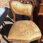 Antique vintage gold chair