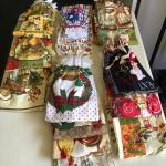 36 assorted hanging kitchen towels